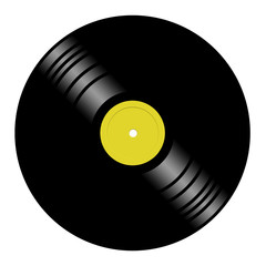 Illustration of a vinyl disk