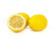 Lemon fruits on white background