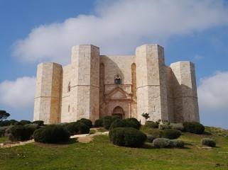 The castel del monte a octagonal castle in Apulia in Italy