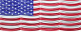 USA mock croc Flag curtain up. Alpha is included. Rewind to drop poster