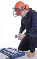 workman with socket set