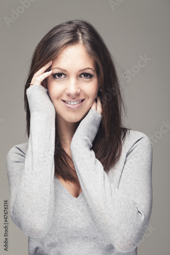 Portrait of beauitiful brunette