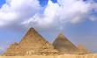 Great Pyramids, located in Giza. Panorama