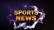 SPORT NEWS Gold Text in Particle (2 Variation) Blue - HD1080