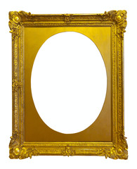 ellipse gold picture frame
