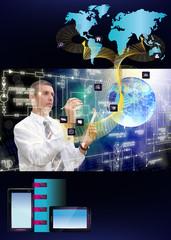 Innovative engineering designing internet communication