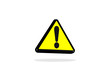 Signalisation icone - Panneaux warning sign - yellow triangular