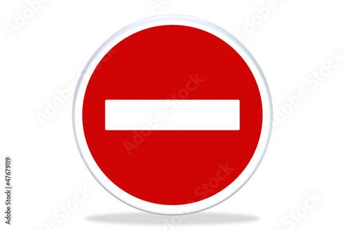 Signalisation icone - Panneaux interdit sign