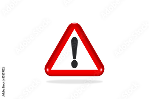 Signalisation icone - Panneaux warning sign - red triangular