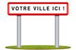 Signalisation icone - Panneaux entrée ville - village