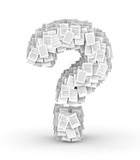 Question mark , page documents font