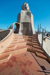 Casa Mila chimneys Barcelona Spain