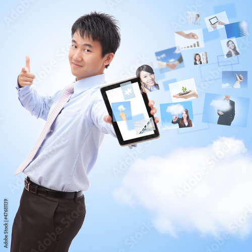 business and cloud computing concept