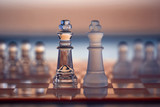 Chess Kings - as business concept series - competition, merge, s poster