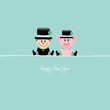 Sitting Chimney Sweep & Pig Retro