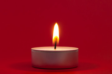 Tea Light on Red