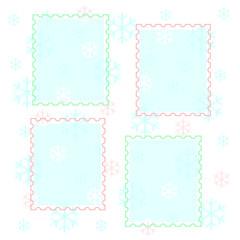 pastel snowflakes scrapbook