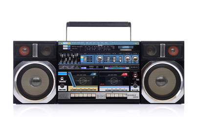 Old cassette portable boombox