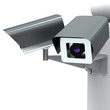 Security cameras, 3d image