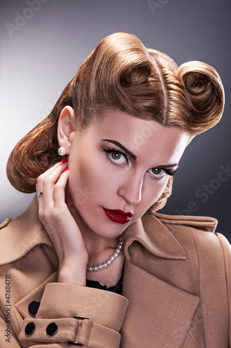 Vintage Style - Aristocratic Woman with Retro Hairstyle