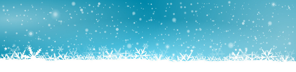 Blue Winter Background Panorama
