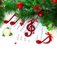 Christmastime treble clef