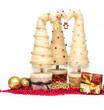 Christmas trees made of sisal