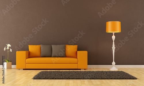 Brown living room