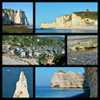 Photos mosaic of Etretat in France
