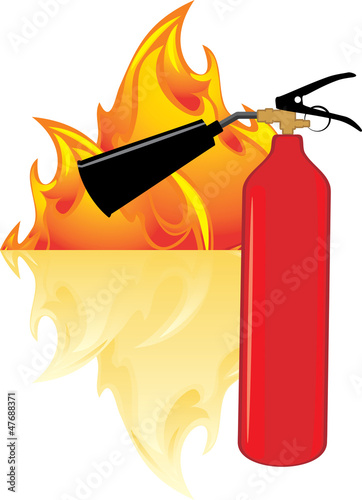 Flame and extinguisher