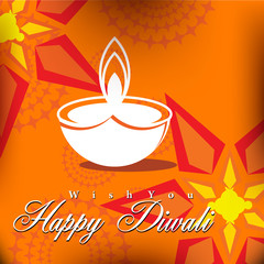 Abstract vector card design with shiny color for Diwali festival