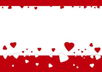 Frise transfert de coeurs - Saint Valentin