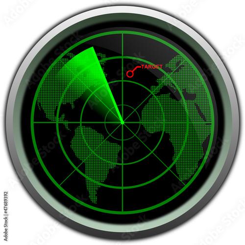 Military radar screen
