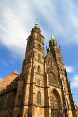 Türme der St. Lorenz Kirche in Nürnberg