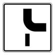 Zusatzzeichen Verlauf der Vorfahrtstraße