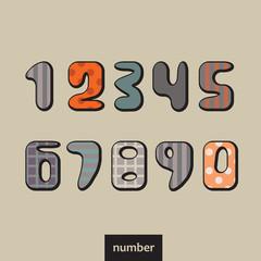 Numbers vintage