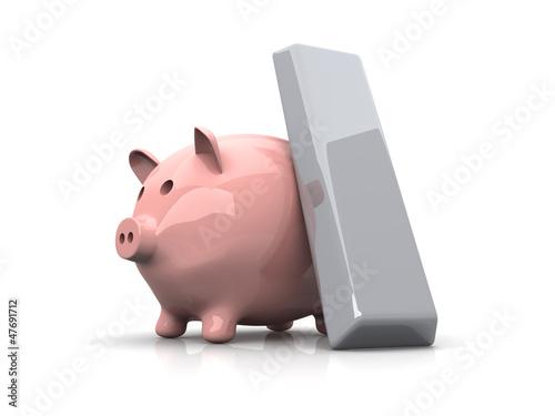 Sparschwein und Edelmetalle