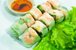 vietnamese food: pork & shrimp salad rolls