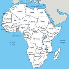 Africa - vector map
