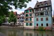 Maisons à Colombages au bord de la rivère, Strasbourg, France