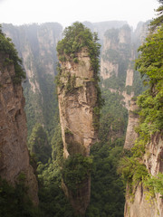 Rock mountain in Zhangjiajie.