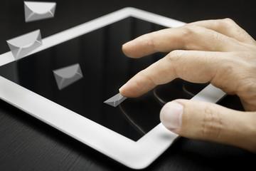 e-mails, internet concept