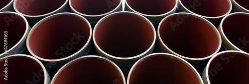 canvas print picture Stahlrohre für eine Pipeline