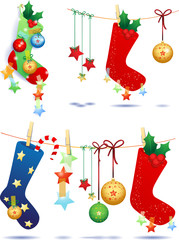 Socks and Christmas elements