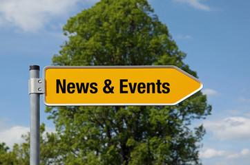 Pfeil mit Baum NEWS & EVENTS