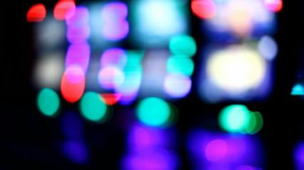 Slot machines videopoker neon bokeh
