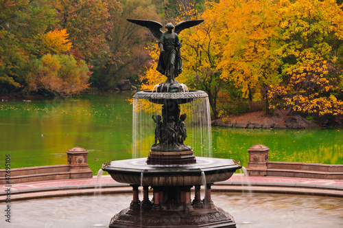 Fall colors at Bethesda Fountain in Central Park. New York City Poster