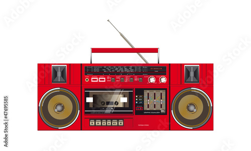 illustration of a fantastic retro ghettoblaster
