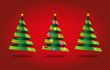 Sapins de Noël fond rouge-1