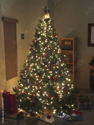 A Starry Christmas Tree on Christmas Eve